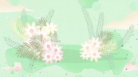 Flores frescas em aquarela banner material de fundo Flor Fresco Simples Flor de fundo Fundo Do Pintado Plano Imagem Do Plano De Fundo