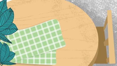 ताजा लकड़ी की मेज शीर्ष दृश्य चित्रण पृष्ठभूमि, हाथ खींचा हुआ, रंग, ताज़ा पृष्ठभूमि छवि