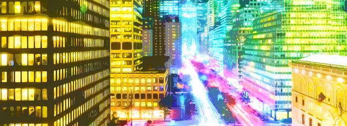 full aesthetic city lighting color background, Color, Watercolor, Light Background image