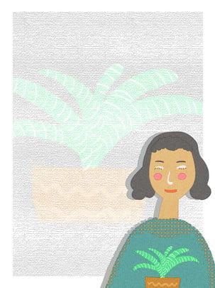 पूर्ण हाथ से चित्रण शैली हरी पत्ती पृष्ठभूमि चरित्र हरे पौधे मांसल , हरे पत्ते की पृष्ठभूमि, हाथ से बनाई गई शैली, कार्टून चरित्र पृष्ठभूमि छवि