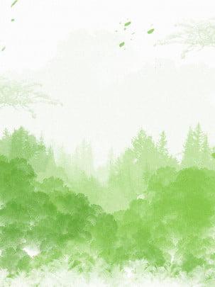 كامل، حلوة، أزال، watercolor، صيني، لقب، الغابة، الخلفية , ملخص, خشب, غابة صور الخلفية