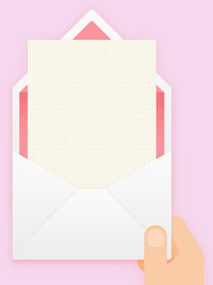 full pink letterhead stationery , Envelope, Stationery, Handheld Background image