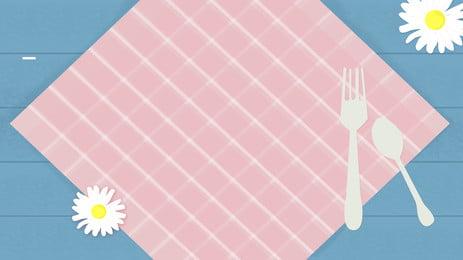 लड़की ताजा प्लेड मेज़पोश विज्ञापन पृष्ठभूमि, प्लेड मेज़पोश, ताज़ा, किशोर दिल पृष्ठभूमि छवि
