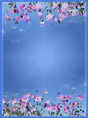 glass crystal flower texture material , Glass Crystal Flower, Blue Flower Material, Blue Background Material Background image