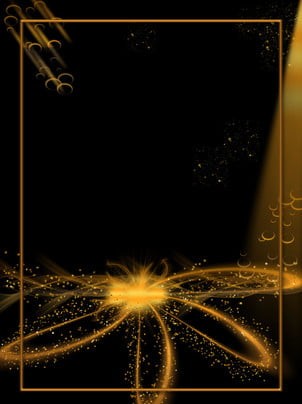 gold black powder pattern golden background material , Gold Powder, Flower Pattern, Background Background image
