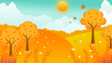 金燦燦麥田廣告背景, 豐收, 雲朵, 廣告背景 背景圖片