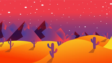 gradient background design of cactus and desert, Desert Background, Cactus, Sky Background image