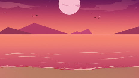 gradient moonlight beach background material, Multicolored, Gradient, Beach Background image