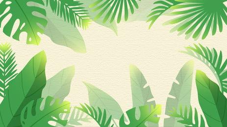 綠色大葉子邊框背景, 綠色, 大葉子, 邊框 背景圖片
