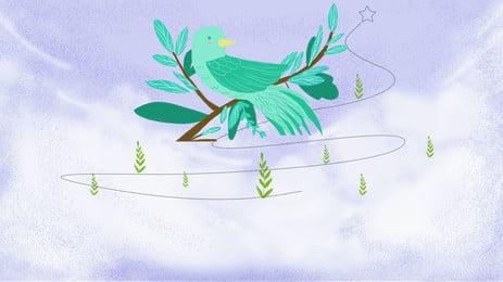 chi nhánh chim xanh tím nền trời, Màu Xanh, Con Chim Nhỏ, Chi Nhánh Ảnh nền