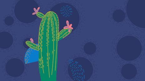 green cactus blue polka dot cartoon background, Green, Cactus, Blue Background image
