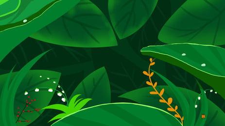 綠色草葉植物背景, 綠色, 草葉, 背景 背景圖片