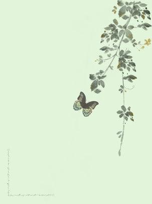 녹색 잎 나비 , 녹색, 나비, 국경 배경 이미지