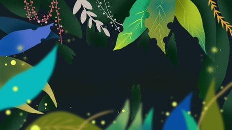 green lá biên giới phim hoạt hình nền, Màu Xanh, Lá, Biên Giới Ảnh nền