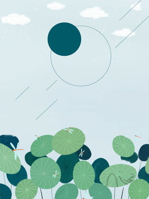 Lá sen xanh trên nền cây mùa hè Màu Xanh Lá Hình Nền