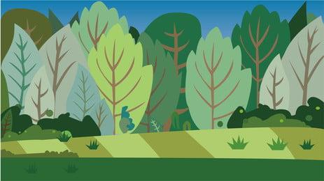 Rừng cây xanh nền Màu Xanh Rừng Hình Nền