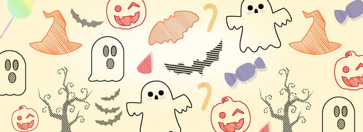 Halloween Ghost Festival Ghost Pumpkin Poster Chất liệu nền Halloween Ma Bí ngô Vẽ tay Chất Liệu Halloween Ghost Hình Nền