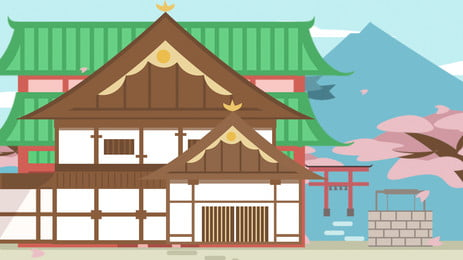 vẽ tay quảng cáo nhà nhật, Nền Quảng Cáo, Vẽ Tay, Phong Cách Nhật Bản Ảnh nền