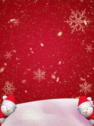 Vẽ tay người tuyết trên tuyết nền tuyết năm mới Nền đỏ Tuyết Bông tuyết Người Tuyết Tết Năm Hình Nền