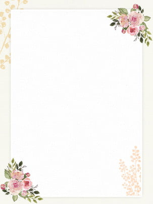 hand drawn vintage flowers romantic paper background source file , Paper, Letter, Wedding Background image