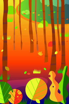 hand painted creative design jungle , Trees, Green, Plant Background image
