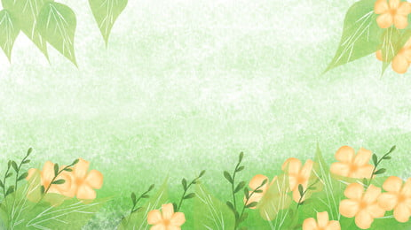 Hand-painted Flowers And Plants Banner Background Material, Plant, Flowers, Painted, Background image