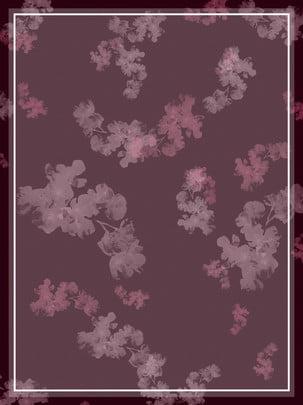 Vẽ tay gouache màu nước không khí bình tĩnh tím hoa nền Vẽ Tay Bột Hình Nền