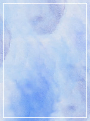 hand painted gouache watercolor romantic blue purple fresh minimalist background material , Hand Painted, Gouache, Watercolor Background image