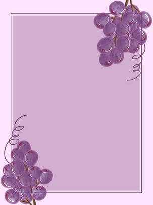 Material de fundo simples mão pintado uva fruta menina coração Mão Desenhada Uva Imagem Do Plano De Fundo