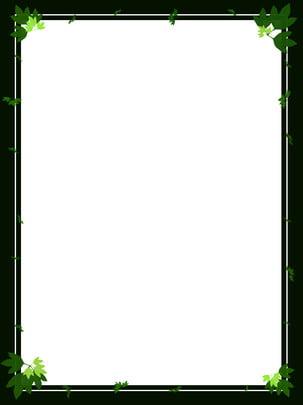 Vẽ tay màu xanh lá cây tự nhiên tối giản vật liệu nền Vẽ Tay Lá Hình Nền
