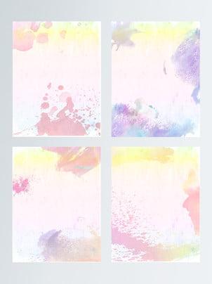 Hand Painted Watercolor Brush Ink Blots Background, Hand Painted, Watercolor, Stroke, Background image