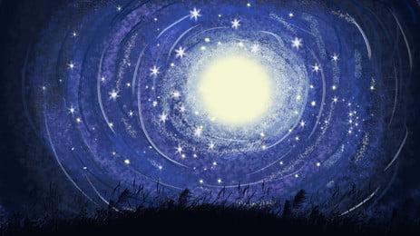 latar belakang tingkah penyembuhan, Kesan Gegelung, Sistem Penyembuhan, Langit Berbintang imej latar belakang