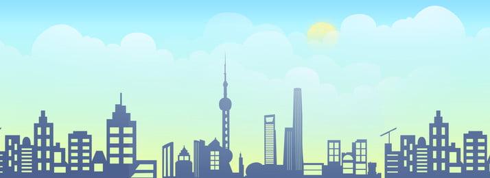 高層ビル、天気の良い日、グラデーション、雲 高層ビル 良い天気 太陽 クラウド グラデーション 水色 高層ビル、天気の良い日、グラデーション、雲 高層ビル 良い天気 背景画像