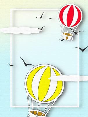 Khinh khí cầu mùa thu ngỗng trời origami nền Khinh Khí Cầu Hình Nền