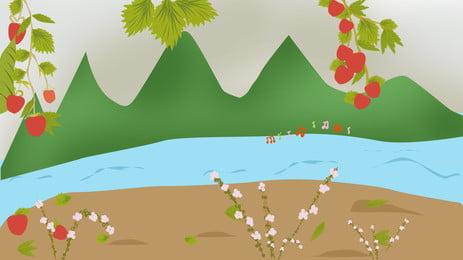huayuan hoa nền bãi biển, Hoa, Bãi Biển, Núi Xa Ảnh nền