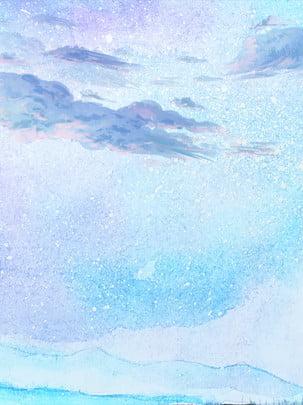Mực tầu bầu trời  bầu trời bằng tay nền Muscovite H5 Nền Lý Hình Nền