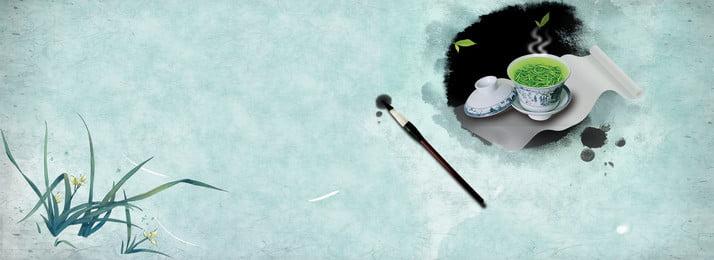 Mực Trung Quốc minh họa banner Mực Phong cách trung Ngữ Mực Trung Hình Nền