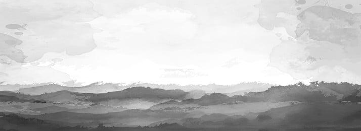 mực giật gân nền đen trắng trung quốc đơn giản, Mực, Bột Màu, Mực Giật Gân Ảnh nền