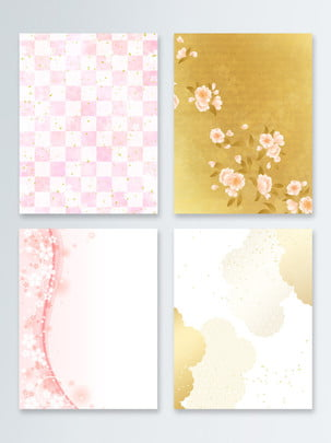 和風と風ピンクの桜の広場ゴールデンモアレ美しい背景 , 和風, ゼファー, 日本 背景画像