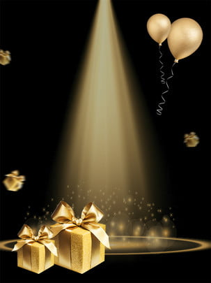 light effect black background poster , Light Effect, Gold, Black Background image