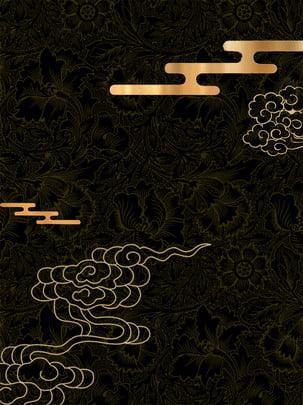 光效黑金廣告背景 光效 金色 雲背景圖庫