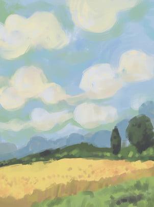 liqiu油絵の背景 , 李秋, 油絵, ブラッシ感 背景画像