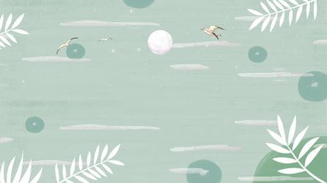 साहित्यिक हरे पौधे की पत्ती चित्रण पृष्ठभूमि साहित्य और कला ग्रीन चित्रण पृष्ठभूमि सामग्री की पृष्ठभूमि छवि