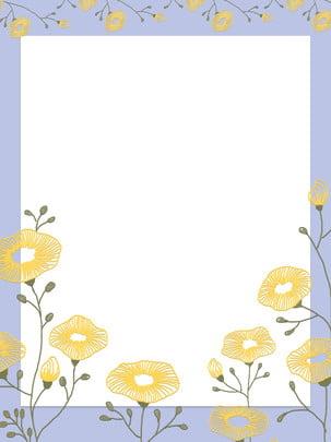 文藝純手繪秋季花卉背景 , 文藝, 秋季, 手繪 背景圖片