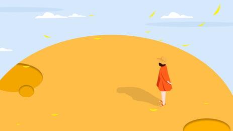 ग्राउंड विज्ञापन की पृष्ठभूमि पर खड़ी छोटी लड़की, विज्ञापन की पृष्ठभूमि, ताज़ा, पृथ्वी पृष्ठभूमि छवि