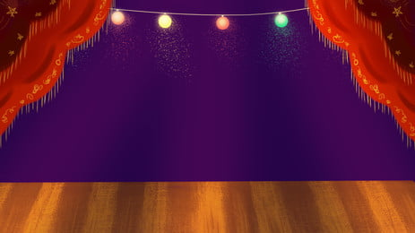 Lively Fresh Stage Advertising Background Background,fresh,stage,light,light Bulb,red Curtain,performance,show, Lively Fresh Stage Advertising Background, Background, Fresh, Background image