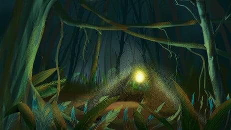 खोया जंगल की छुट्टी यात्रा साहसिक पृष्ठभूमि, छुट्टी, जंगल, रात पृष्ठभूमि छवि