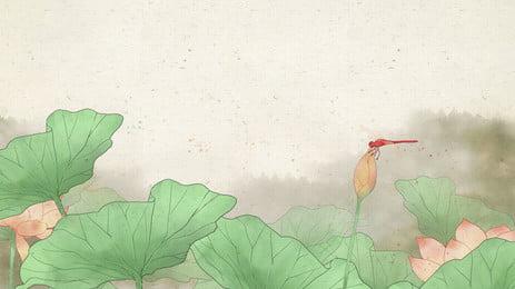 Lotus lotus лист китайского ветра чернила фон лотос Лист лотоса Стрекоза Китайский стиль чернила фон стиль чернила фон Фоновое изображение