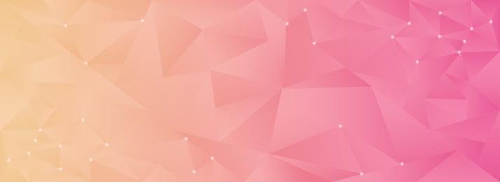 低多邊形多角形三角形漸變簡約banner, 低多邊形, 黃色, 橙色 背景圖片