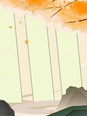 Maple mùa thu phong cảnh quảng cáo nền thương mại Cây Phong Lá Hình Nền
